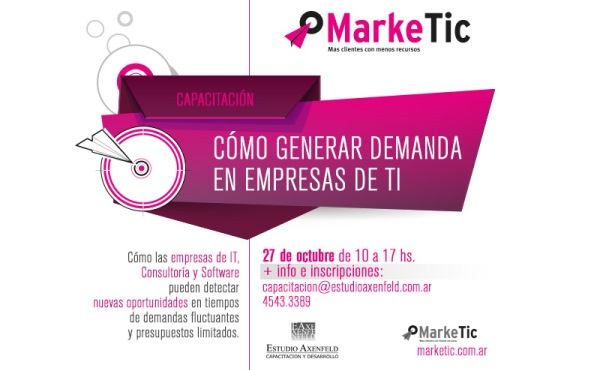 """27/10 Capacitación """"Cómo generar demanda en empresas de TI """""""
