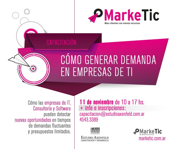 """11/11 Capacitación  """"Cómo generar demanda en empresas de TI """""""